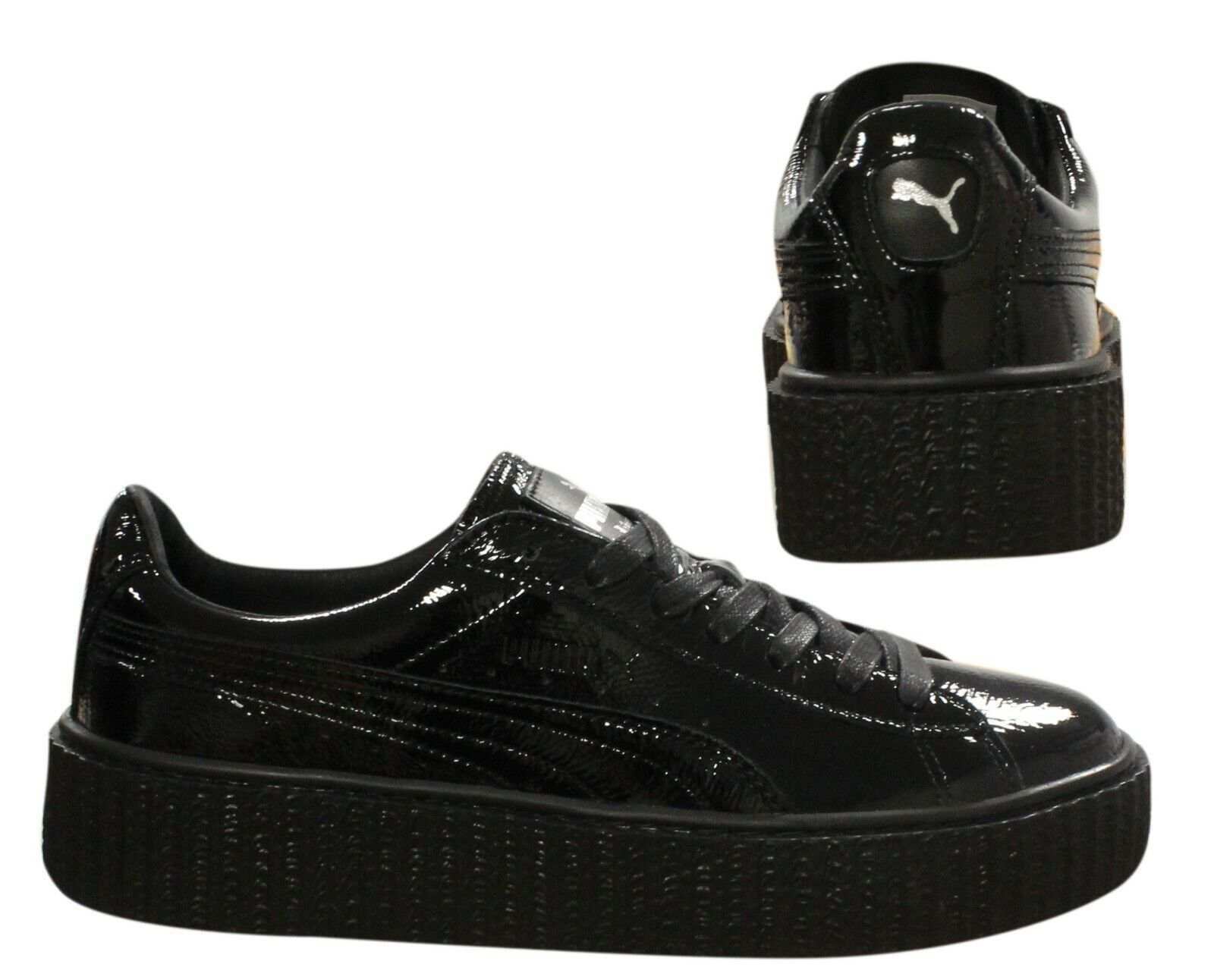 Details about Puma Fenty Rihanna Creeper Wrinkled Patent Womens Trainers Black 364465 01 B90D