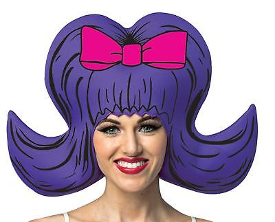 ADULT COMIC CARTOON PURPLE BOUFFANT FOAM WIG COSTUME ACCESSORY GC1351