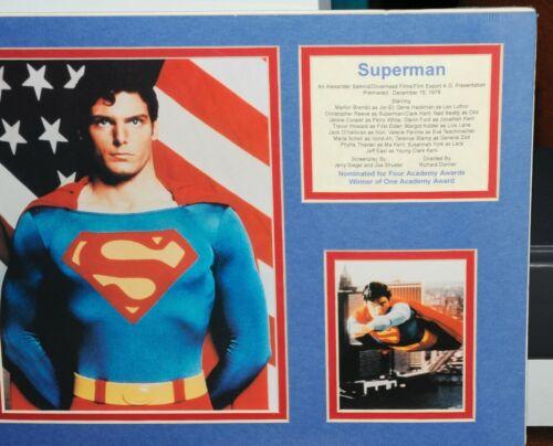 Superman Movie Christopher Reeve Clark Kent matted Art