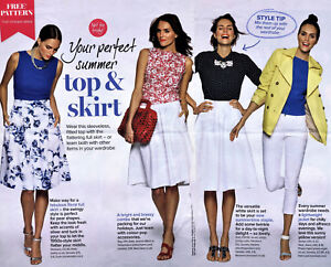 eb2a120157 Simple SLEEVELESS SHELL TOP Pleated SKIRT Prima Sewing Pattern 10 12 14 16  18 20
