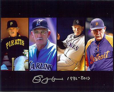 Future Hof Mgr   Jim Leyland  Autographed 8X10  Photo Years   Teams He Managed
