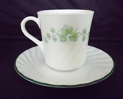 Five (5) Corning Corelle Callaway Cup and Saucer Sets   EUC