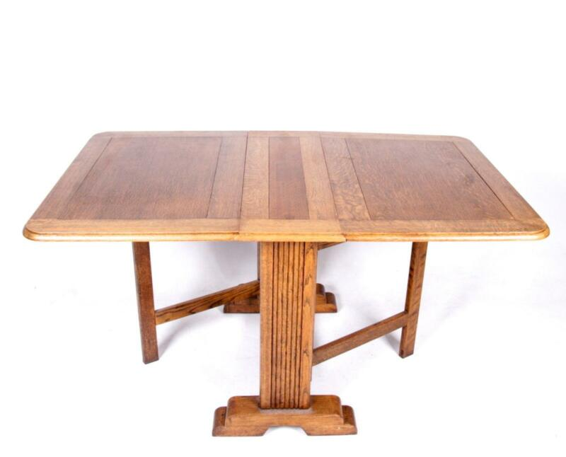 antique solid oak dining table ebay
