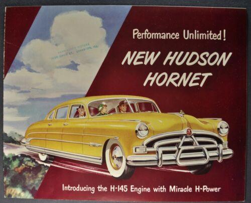 1951 Hudson Hornet Brochure Sedan Convertible Brougham Coupe Excellent Original