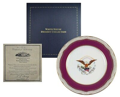 WOODMERE ABRAHAM LINCOLN, White House Dessert Plate Collection (7.5