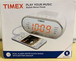 TIMEX Dual Alarm AM/FM Alarm Clock Radio Digital LED Snooze Phone Charge