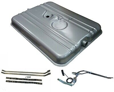 59-64 Cadillac gas tank with 2 line stainless fuel sending unit & strap kit