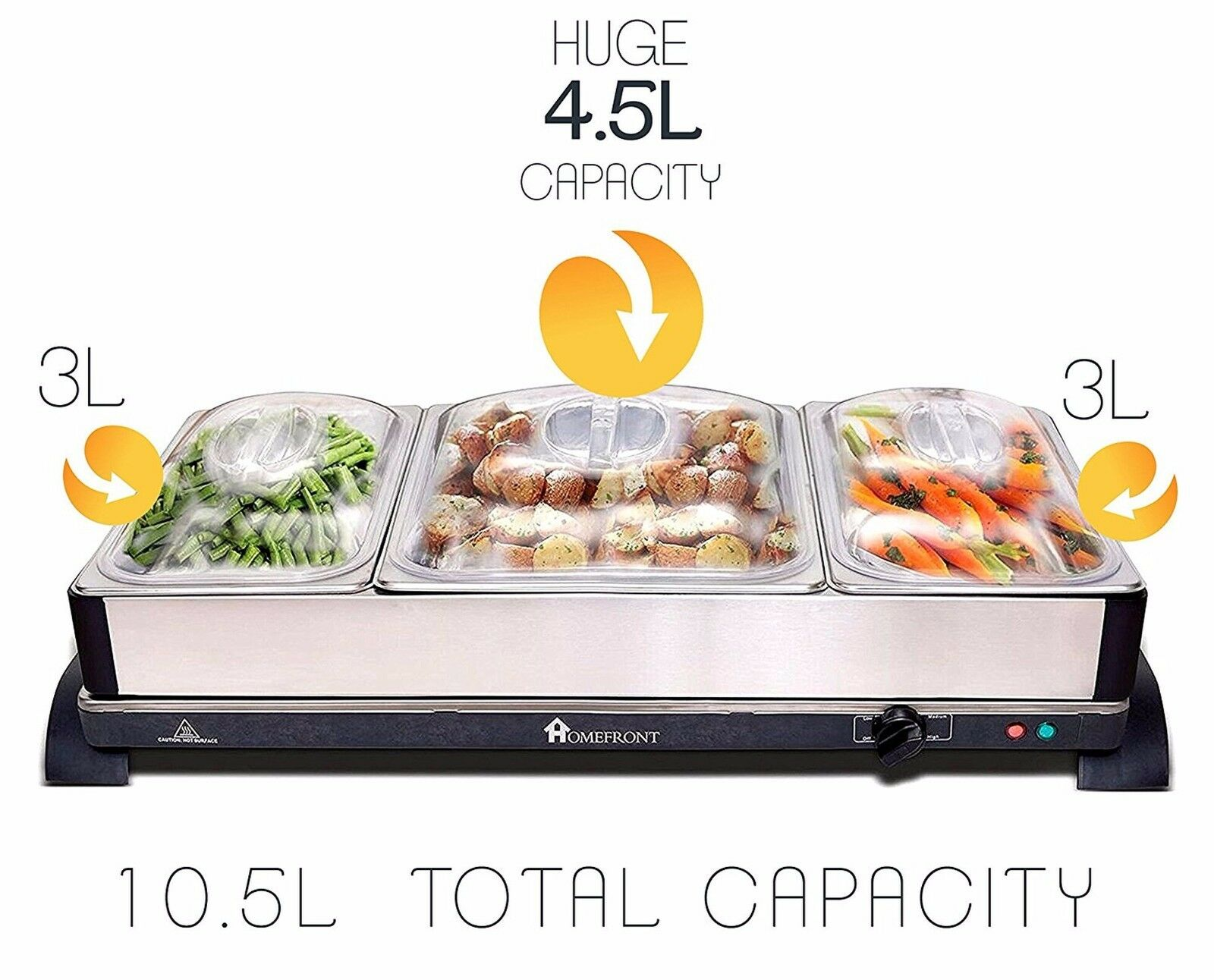 buffet food warmer buffer food plate warmers homefront 2 in 1 x large pro series buffet hot tray food server food