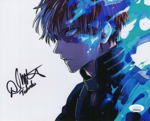 """David Matranga Autograph Signed 8x10 Photo -My Hero Academia """"Todoroki""""(JSA COA)"""