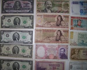 REDUCED 17 Assorted Canadian USA,Italian Mexican paper currency, Cornwall Ontario image 3