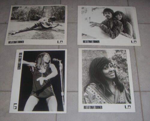4 Original 70`s Promo Photos - IKE & TINA TURNER - UNITED ARTIST RECORDS