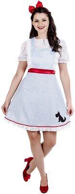 Damen Klassische Dorothy Buch Tag Kostüm Verkleidung Outfit UK 8-22 (Übergröße Dorothy Kostüm)