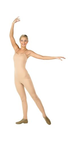 Body Wrappers 202 Adult Size Medium (8) Scoop Neck Nude Camisole Unitard