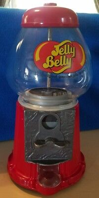 jelly belly gumball machine coin operated metal and glass globe