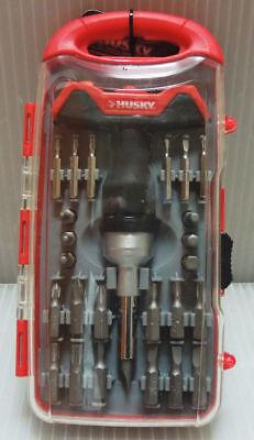 Husky 471827 Mini Ratcheting T-handle Screwdriver Tool Set (28-Piece)