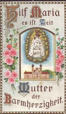 Maria Einsiedeln Wallfahrt Heiligenbild Andenken Österreich Koloriert (B-8091