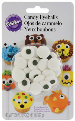 Edible Cake Decorations For Halloween (Wilton Candy Eyeballs Edible Sugar Decoration For Cake Cookies Cupcakes)