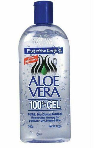 2 Bottle Fruit Of The Earth Aloe Vera 100% Gel 12 oz FREE FA