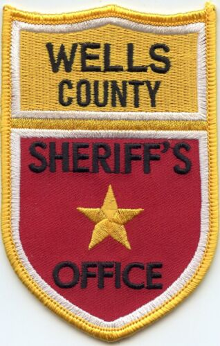 old style WELLS COUNTY NORTH DAKOTA ND SHERIFF POLICE PATCH