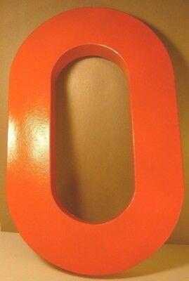 LARGE PAINTED CARDBOARD ZERO OR LETTER O