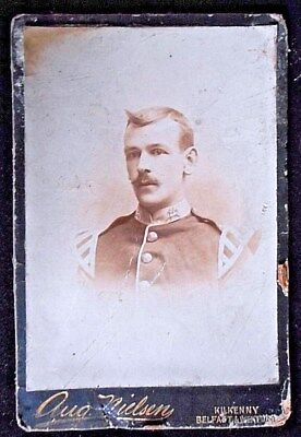 Photograph of Victorian soldier. Monmouthshire Regiment.