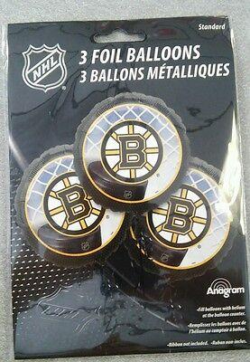 Hockey Boston Bruins Mylar Balloons 3 pack](Hockey Balloons)