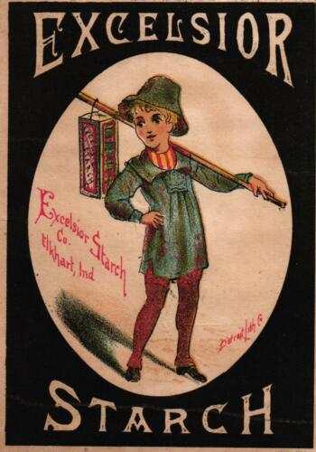 Victorian Advertising Card - Excelsior Starch MFG Co. - Elkhart, Indiana -  USED