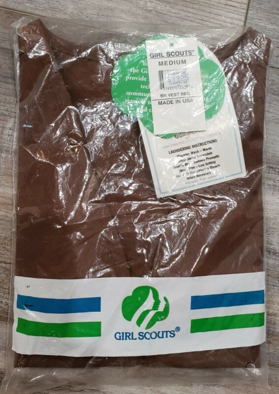 Girl Scouts of America Official Brownie Vest Brown Size Medium Uniform