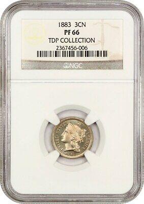 1883 3cN NGC PR 66 ex: TDP Collection - 3-Cent Nickel - Lovely Gem!