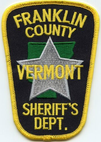 FRANKLIN COUNTY VERMONT VT SHERIFF POLICE PATCH