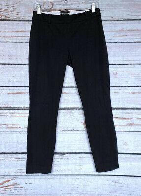 Size 0 - J.CREW Womans Minnie Black Stretch Cotton Pants