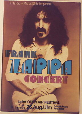 FRANK ZAPPA CONCERT TOUR POSTER 1978