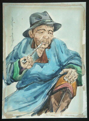 Old Chinese Stye Painting, Mongolian or Manchurian