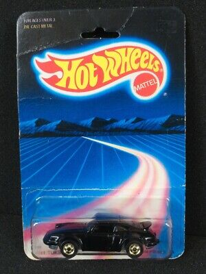 1986 HOT WHEELS HONG KONG PORSCHE P-911 TURBO BW GOLD RIMS  Package #3968