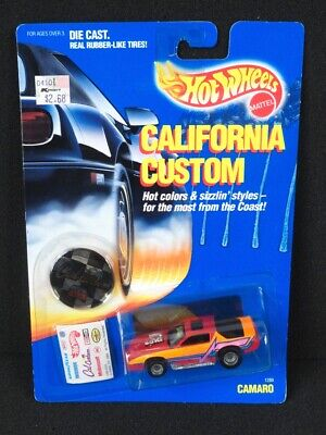 Hot Wheels California Custom Blown Camaro RED on Card - Excellent