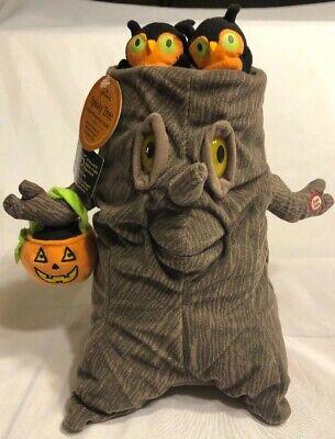 Hallmark Animated Spooky Halloween Tree Plush Owls Move & Sings Addams Family