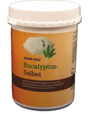 1 Kg Saunasalz - Peelingsalz mit Eucalyptus und Salbei