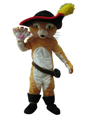 Puss in Boots Mascot Adult Cartoon Doll Costume Outdoor Performance Props - Puss In Boots Costume Adult