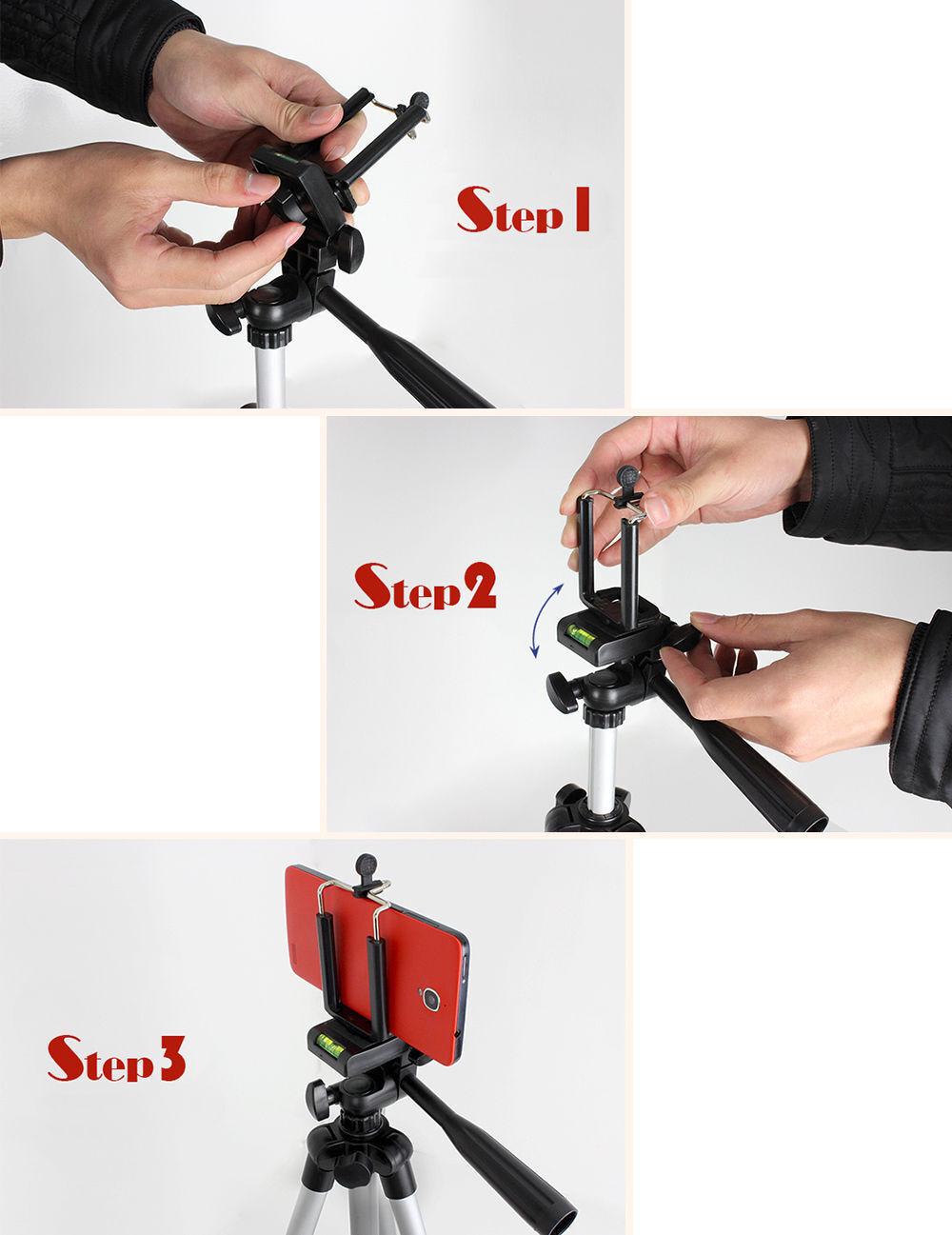 Professional Aluminium Camera Tripod Stand Holder for Samsung DSLR Cell Phone