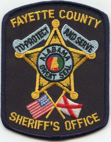 FAYETTE COUNTY ALABAMA AL SHERIFF POLICE PATCH