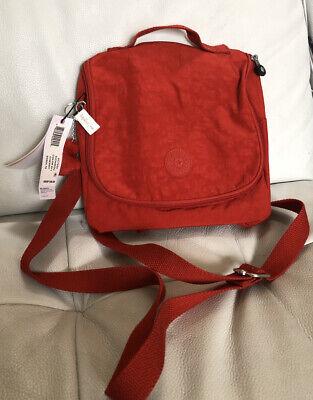 KIPLING KICHIROU Insulated Lunch Bag Crossbody Bag Red NWT $49