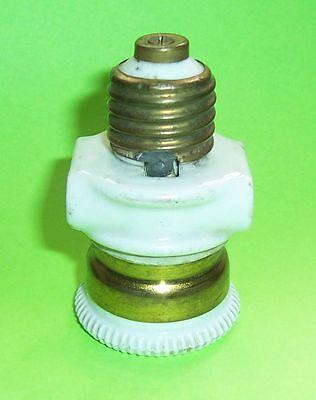 Porcelain/Brass Lamp Socket E27 Loft True Vintage Industry Decor Look (E68