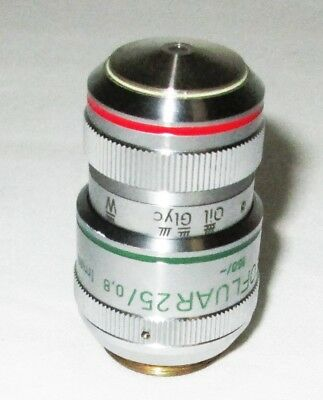 Zeiss 461626 Ph2 Plan Neofluar 25x 0.8 1mm Oil Glyc W Axio Microscope Objective