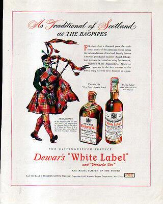 1946 DEWAR'S WHITE LABEL AD- CLAN MENZIES