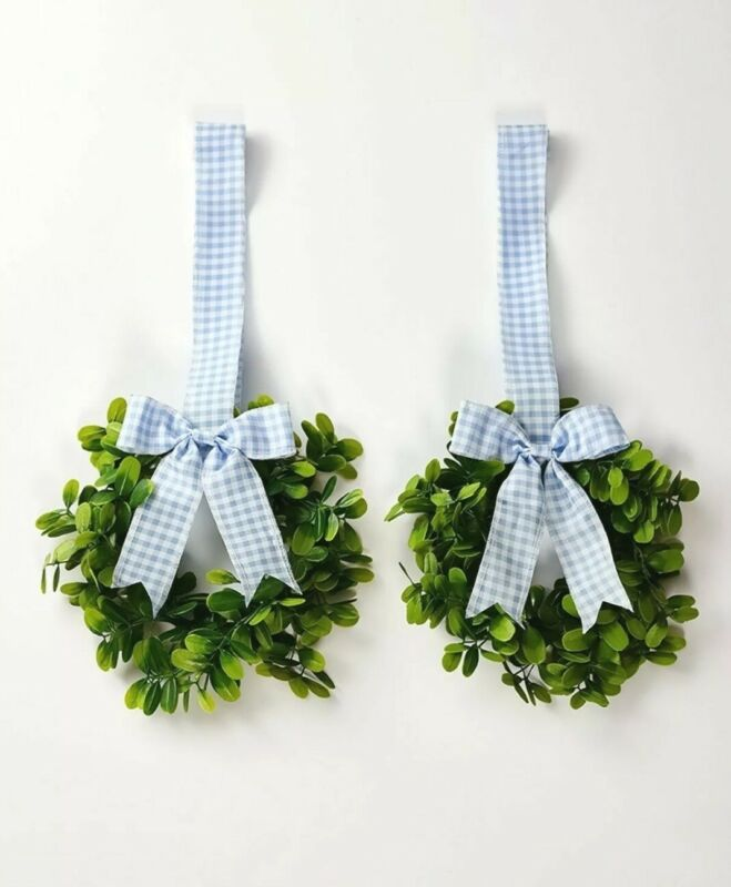 Sets of 2 Cabinet Wreaths - Blue