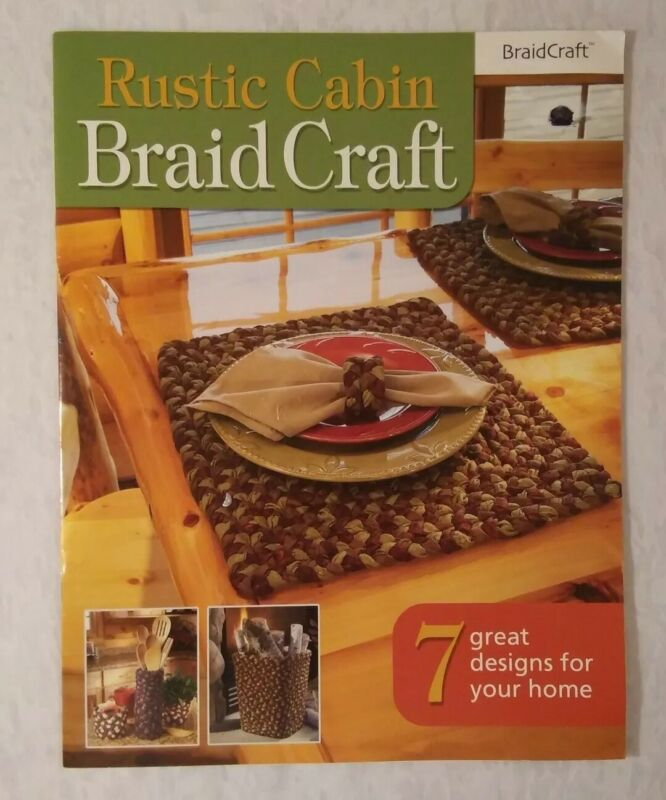 Rustic Cabin BraidCraft Firewood Basket Bench Seat Cover Fireplace Rug Utensil