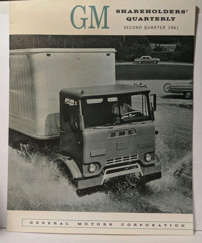 1961 General Motors GM Shareholders Quarterly Report NM Second Quarter