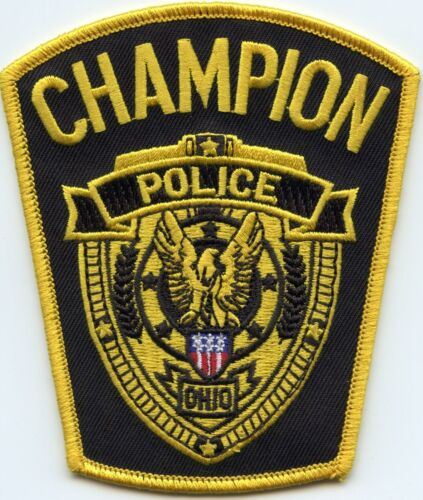 CHAMPION OHIO OH POLICE PATCH