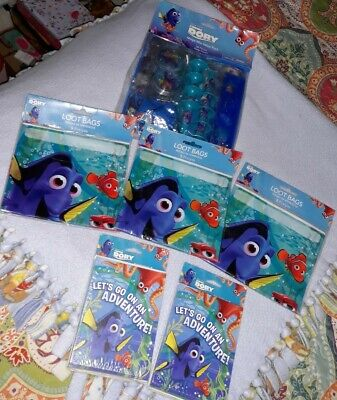 Finding Nemo Party Decorations (~NEW 6 PC LOT~Disney Finding Dory Nemo~ Birthday Party Supplies~)