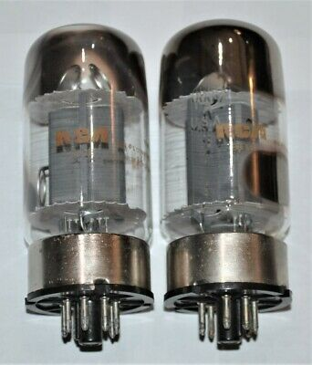 2 Vintage RCA GE 6550 6550A Audio Amplifier Tubes